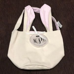 NWT Mud Pie canvas Easter bunny bag